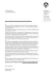 Høring vedr. udkast til lovforslag om ændring af ... - Kirkeministeriet