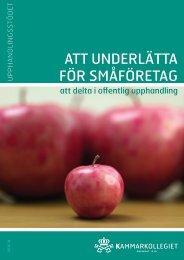 ATT UNDERLÄTTA FÖR SMÅFÖRETAG - Upphandlingsstöd.se