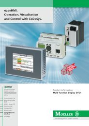 easyHMI. Operation, Visualisation and Control with ... - Moeller