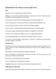 Stillingsbeskrivelse for stillingen som provst, Køge Provsti