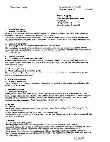 Oplysningspligt - Integrationsloven (somalisk) IN 246 - klxml