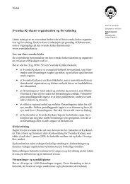 Notat Svenska Kyrkans organisation og forvaltning - Kirkeministeriet