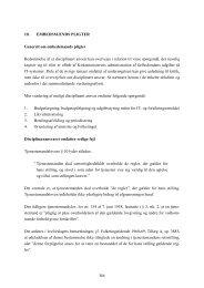 10. EMBEDSMÆNDS PLIGTER Generelt om ... - Kirkeministeriet
