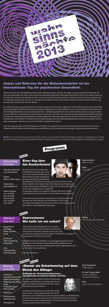 Flyer zum Download - Liechtensteiner Bündnis gegen Depression