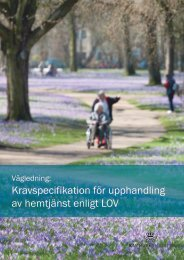 Kravspecifikation för upphandling av hemtjänst enligt LOV