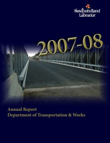 Transportation and Works Annual Report 2007-08 - Department of ...