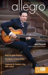 issue four - Vancouver Symphony Orchestra