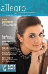 issue two - Vancouver Symphony Orchestra
