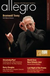 issue five - Vancouver Symphony Orchestra