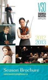 Season Brochure - Vancouver Symphony Orchestra