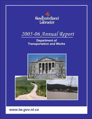 Department of Transportation and Works Annual Report 2005-06