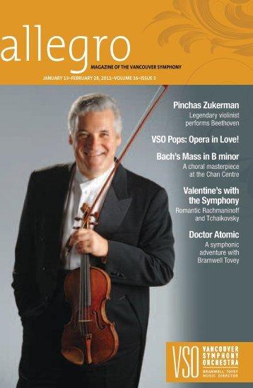 Pinchas Zukerman VSO Pops: Opera in Love! - Vancouver ...