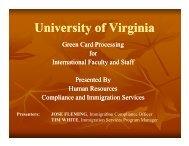 University of Virginia - UVA Human Resources