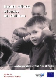 Health effects of noise on children - Statens Institut for Folkesundhed