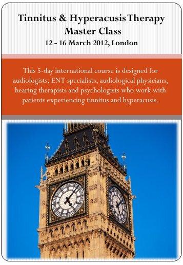 Tinnitus & Hyperacusis Therapy Master Class