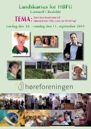 Landskursus program 2011 - Høreforeningen