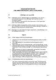 Standardvedtægter for Høreforeningens lokale afdelinger revideret ...