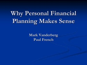 Introduction to Financial Planning (PDF | 650KB)