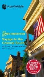 Historic Colonial South (PDF | 1MB) - Virginia Tech Alumni Association