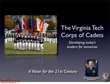 2011 - General Fullhart Presentation (PDF | 27MB) - Virginia Tech ...