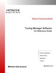 List of Commands - Hitachi Data Systems