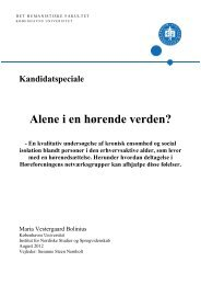 Specialet kan downloades her (pdf-fil 1MB). - Høreforeningen