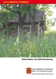 Informationsfolder latrin - Hallsbergs kommun