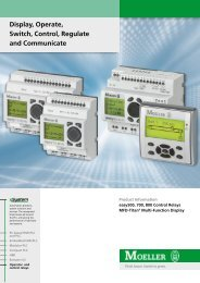 Display, Operate, Switch, Control, Regulate and ... - Moeller