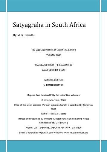 Satyagraha in South Africa - Mahatma Gandhi