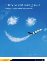 Annual Report cb smile - Jet Airways