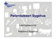 Team Sengeafd - afd. 14 - Sikker Patient