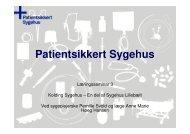 Kolding Sygehus - Sikker Patient