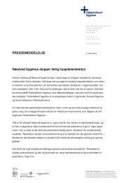 PRESSEMEDDELELSE Næstved Sygehus stopper ... - Sikker Patient