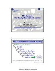 The Quality Measurement Journey - Sikker Patient
