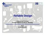 Reliable Design - Sikker Patient
