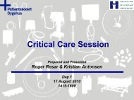 Critical Care Session - Sikker Patient