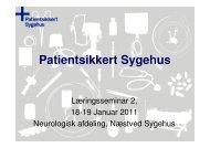 Patientsikkert Sygehus - Sikker Patient