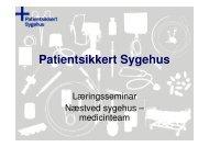 Team Medicin - Sikker Patient