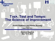 Task, Test and Tempo: The Science of Improvement - Sikker Patient