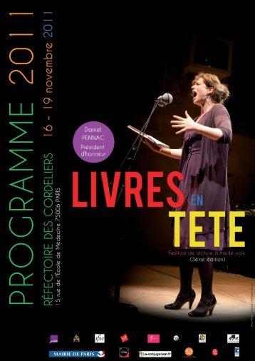 Programme Livres en tête 2011 - Les Livreurs