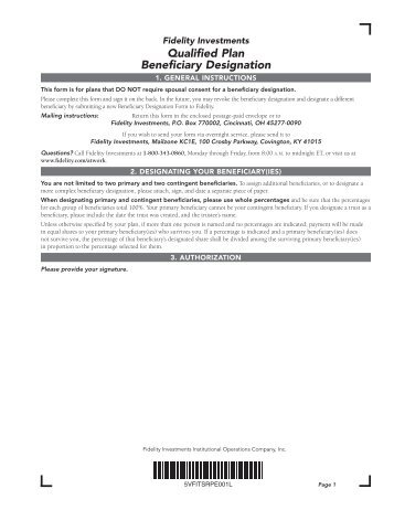 Life Insurance Beneficiary Designation Form