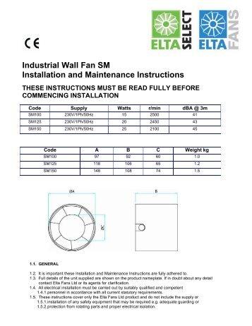 Elta fans wiring diagram wire center industrial wall fan sc scb sc lv installation and elta fans rh yumpu com exhaust fan wiring diagram dual electric fan wiring diagram cheapraybanclubmaster Gallery