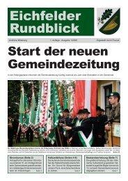 Gemeindezeitung 2008 Ausgabe 01 - Eichfeld