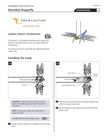 MonoRail Dragonfly - Tech Lighting