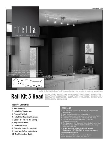 Rail Kit 5 Head - Tech Lighting