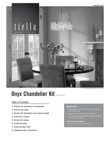 Chandelier Kit EN - Tech Lighting