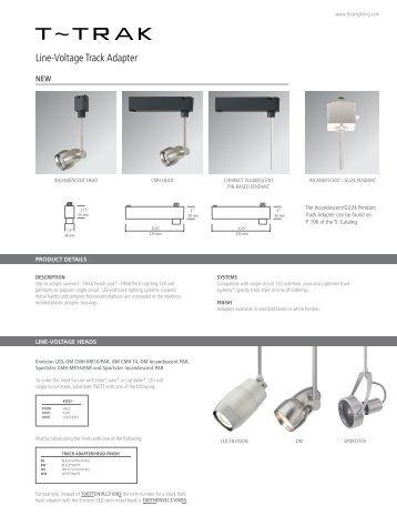 Line-Voltage Track Adapter - Tech Lighting