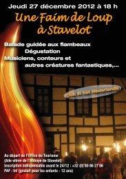Une Faim de Loup à Stavelot - office du tourisme de Stavelot