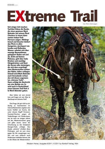 EXtreme Trail - Western Horse von P. Kleinwegen