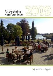 Årsberetning 2009 - Høreforeningen